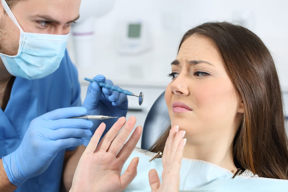 patient scared of the dentist